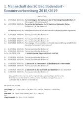 Sommervorbereitungsplan 1 Mannschaft Des Sc Bad Bodendorf 160718