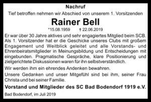 Nachruf Rainer Bell 60Mm2Sp Sw