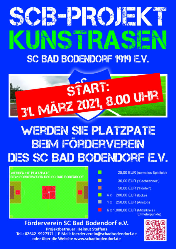 Scb Plakat Kunstrasenpatenschaft Start310321 240321 A4