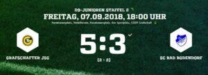 Screenshot Grafschafter Jsg D Junioren 070918