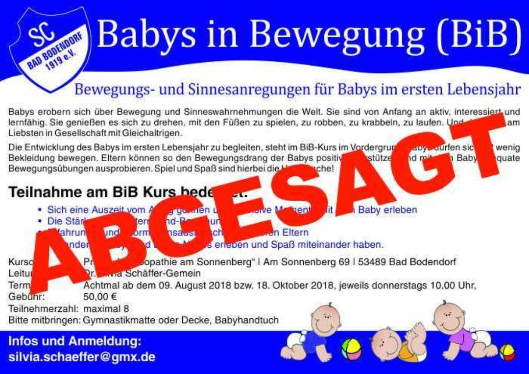 Babys In Bewegung A4 4C 270618 Abgesagt