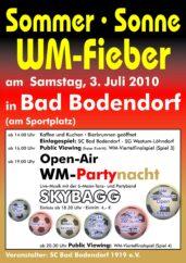 Plakat Sommer Sonne Wm Fieber A4 4C