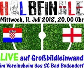 Halbfinalspiel Kroatien England 110618