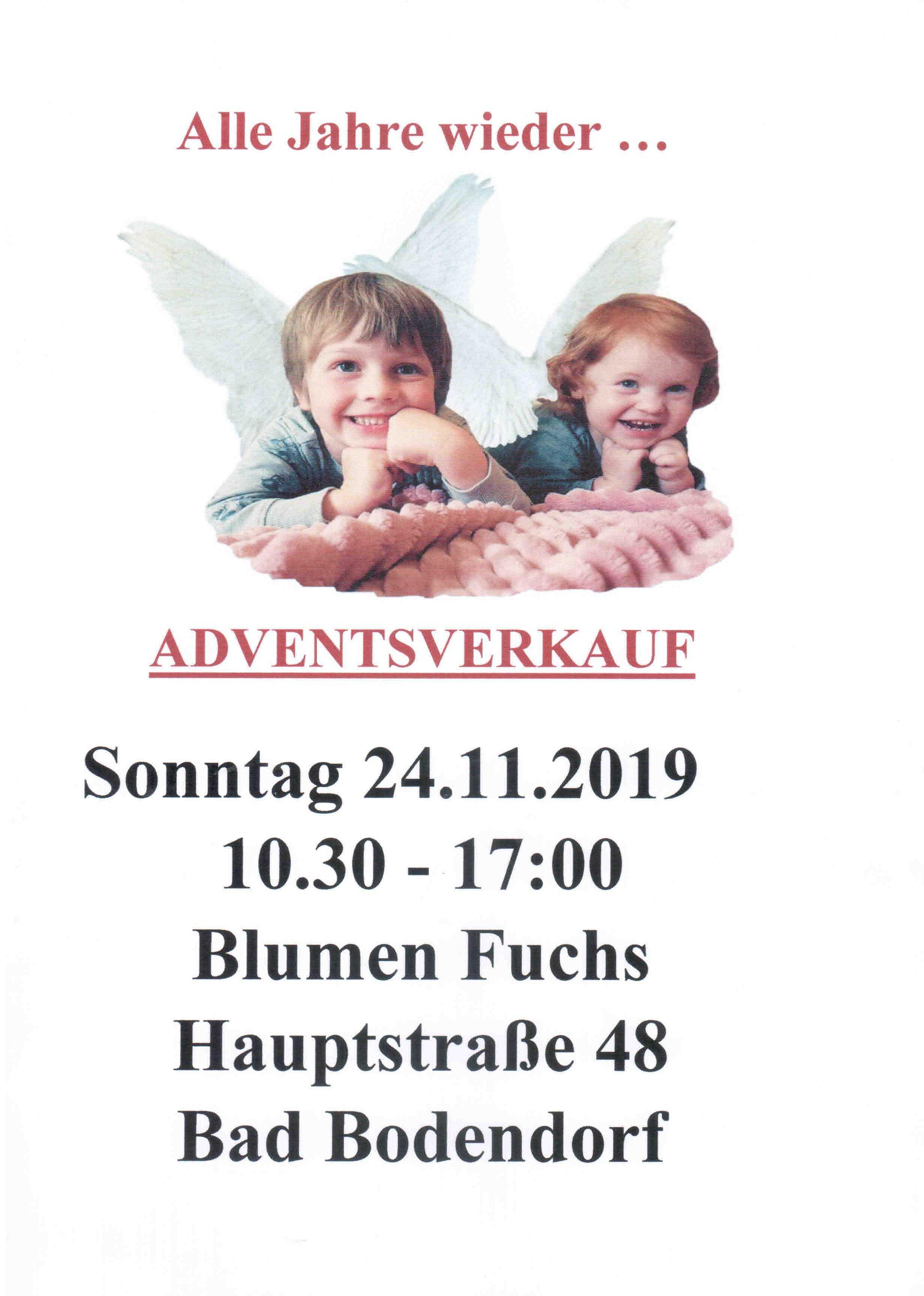 Fuchs Gärtnerei Adventsverkauf 241119