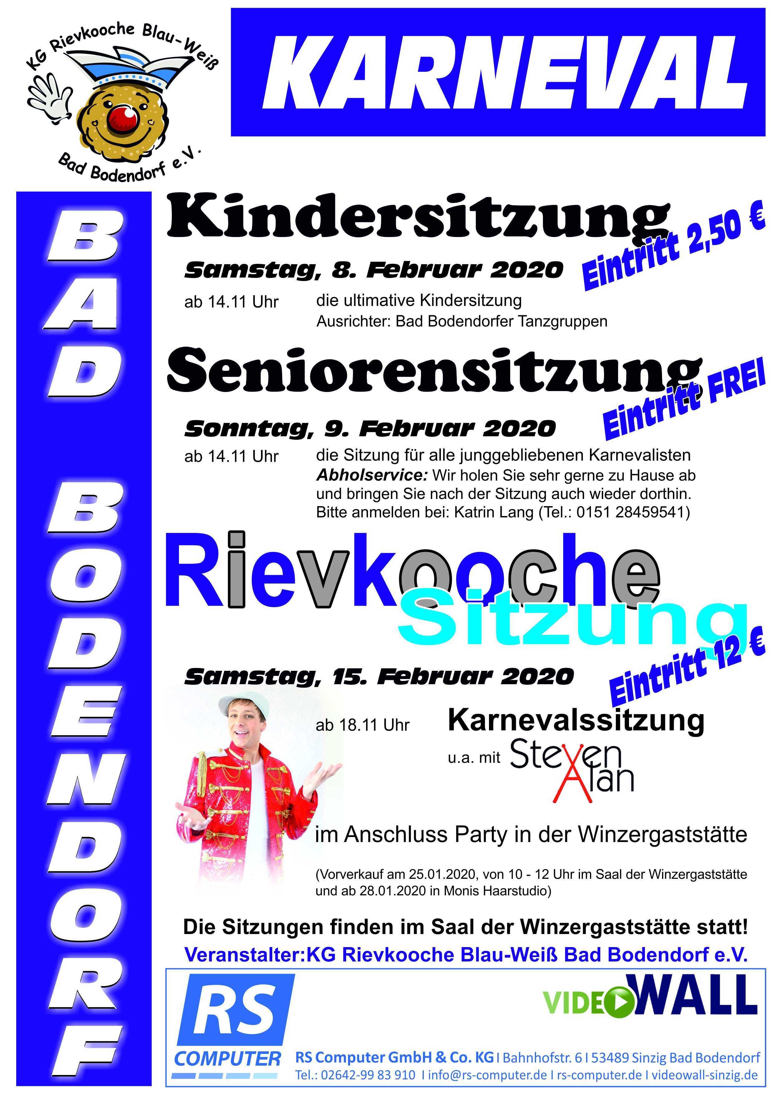 Kg Blau Weiß Rievkooche Sitzungen 2020 041219