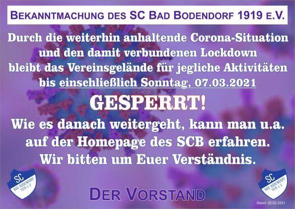 Coronavirus Sperrung 220221