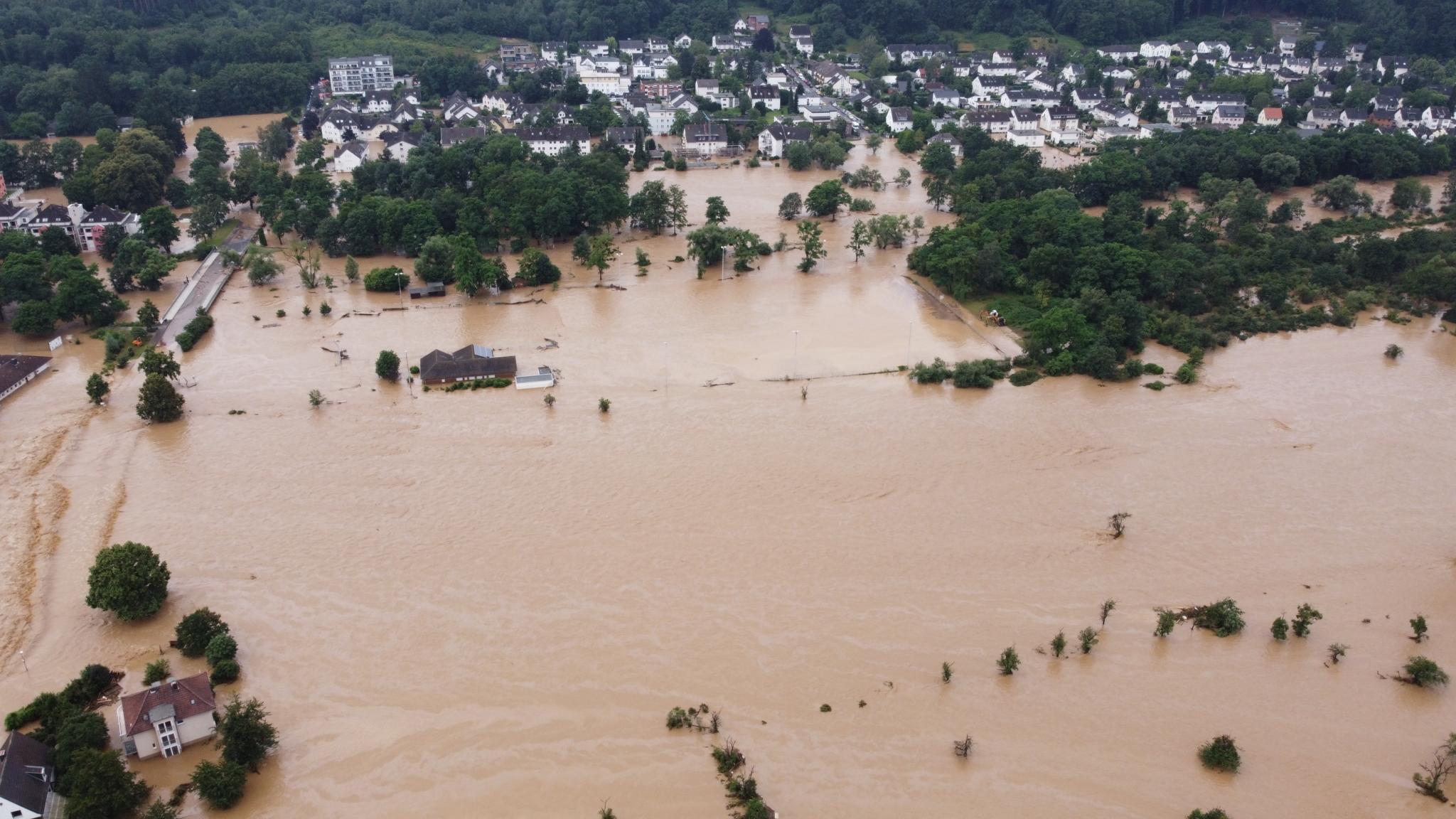 Hochwasser zerstört SCB-Vereinsgelände