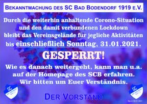 Coronavirus Sperrung 060121