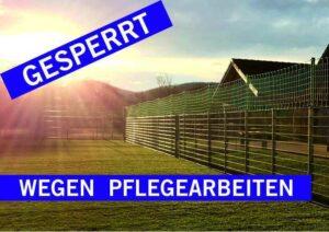 Sperrung Rasen Kleinspielfeld Wg Pflegearbeiten 100717